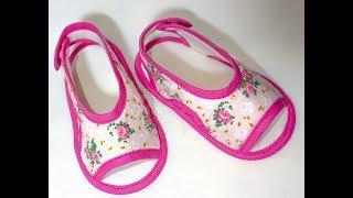 Como Fazer Sandalinha de Bebe Peep Toe