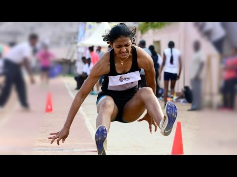 Women's Long Jump Final All India University Athletics 2017