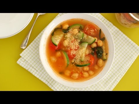 Must Make Soup to Go: Mediterranean Vegetable Soup with Couscous - Everyday Food with Sarah Carey