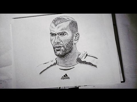 Legendary Zidane (Man With GoldenTouch) Pencil Drawing ...
