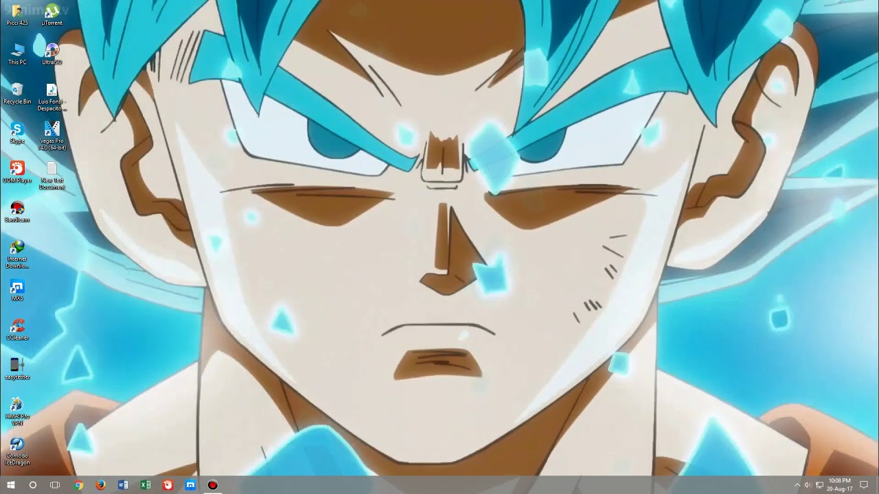 Goku Super Saiyan Blue Wallpaper Wallpaper Theme Engine Youtube