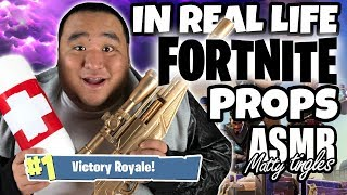 [ASMR] IN REAL LIFE - FORTNITE PROPS | MattyTingles