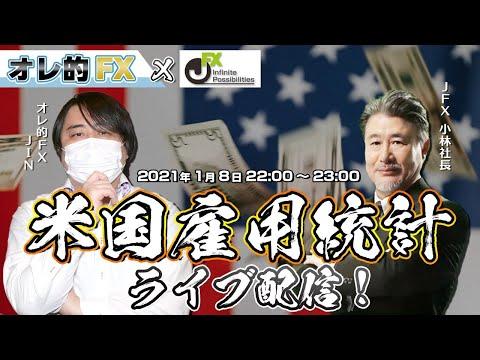 【FXライブ配信】オレ的JIN vs JFX小林社長(米雇用統計LIVE)