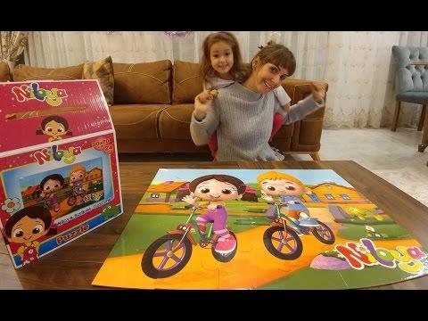 NİLOYA dev puzzle bimden aldığımız oyuncak açtık , eğlenceli çocuk videosu