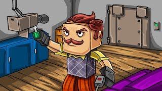 Minecraft | NEIGHBOR SECURES THE HOUSE - Break in Challenge! (Hello Neighbor)