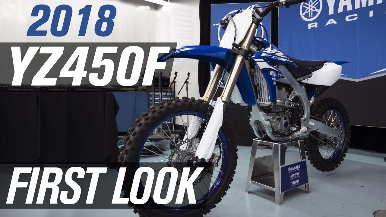 Yamaha Reveals Their Redesigned 2018 YZ450F and the Rest of Their