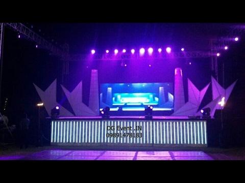 best dj stage setup for Wedding Ceremony DJ sound light Setup 09891478183 sound system rental