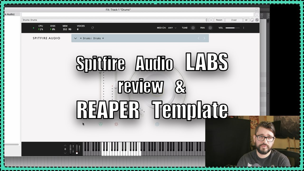 LABS Free VSTi from Spitfire Audio - REAPER Template Download