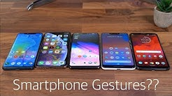 Smartphone Gestures: Who Does it Best??
