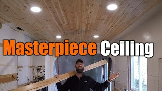 Masterpiece Tongue And Groove Ceiling | Massive Kitchen Reno | THE HANDYMAN |