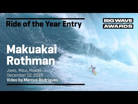 Makua Rothman at Jaws 1 - 2020 Ride of the Year Entry - WSL Big Wave Awards from YouTube · Duration:  40 seconds