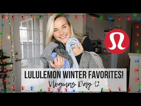 LULULEMON WINTER FAVS! | TRY ON | VLOGMAS DAY 12