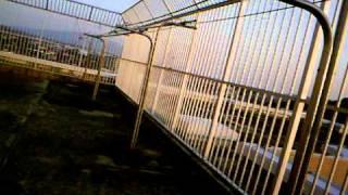 大牟田市立病院屋上からの風景(ちょっとショットで撮影)