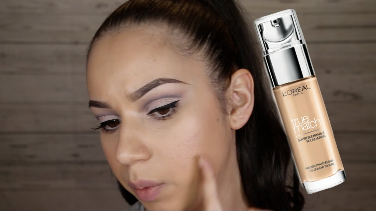 L'Oreal True Match foundation - Review & Wear Test on Oily Skin   ChristineMUA
