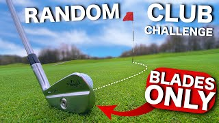 I play golf with BLADES ONLY | Random club challenge
