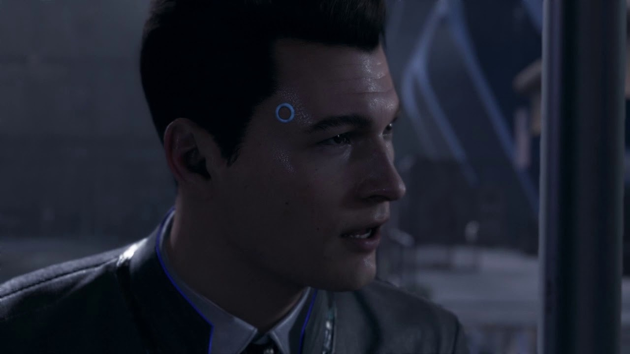 Detroit Become Human Hank eats a cheeseburger while Connor asks him questions. - YouTube