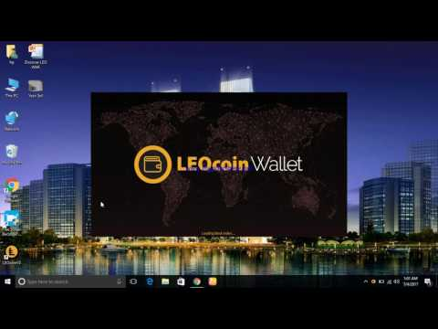 How To Install And Use New LEOcoins Wallet