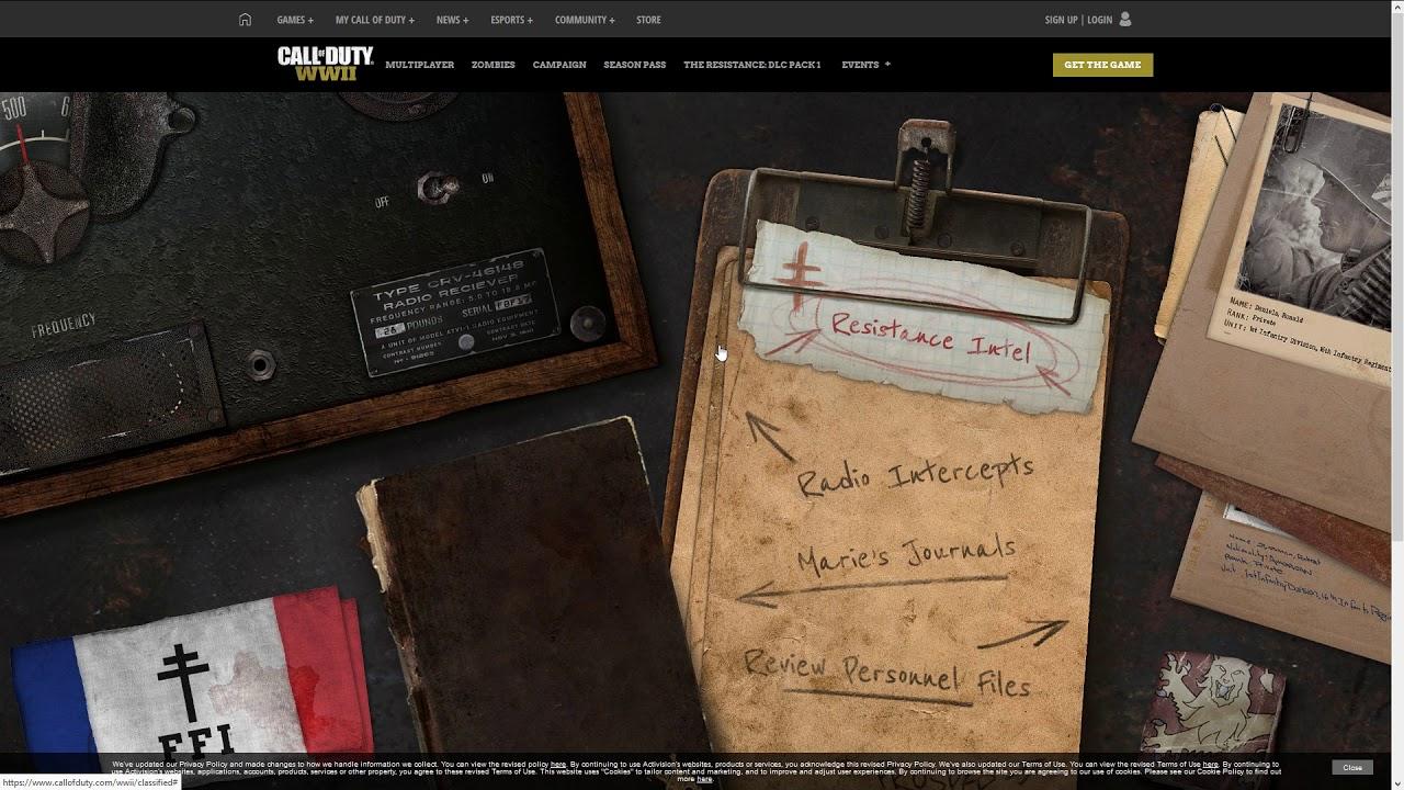 Call Of Duty Wwii Geheime Visitenkarte Freischalten Resistance Calling Card
