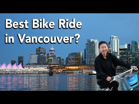 BEST BIKE RIDE IN VANCOUVER? — Late Night Bike Around Stanley Park (Vancouver, BC, Canada)
