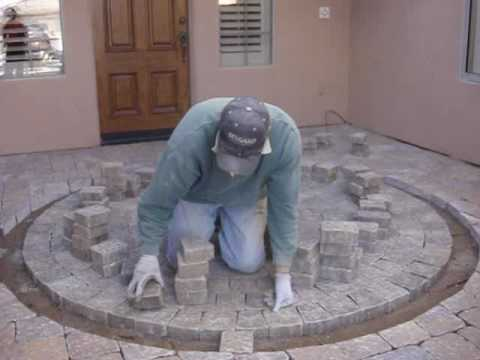 How To Cut In A Paver Circle Part 2   YouTube