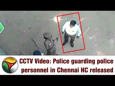 VISUALS: Chennai HC Lawyer Beats Policemen