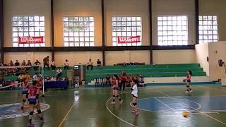 NCR Palaro 2018 Pasig vs Muntinlupa Girls' Volleyball set 1