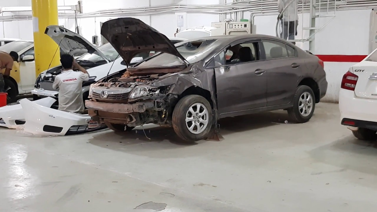 Honda Fort Accidental Car Repairing Processe In Pakistan Lahore