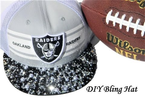 DIY Bling Hat Tutorial Step by Step Instructional Video for Adding Rhinestone Embellishments to Hat