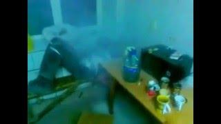 мега будильник)прикол с огнетушителем))