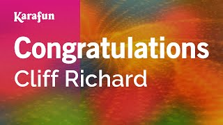Karaoke Congratulations - Cliff Richard *