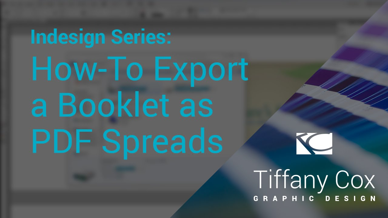 InDesign Series   How-To Export a Booklet as Saddle Stitch PDF ...