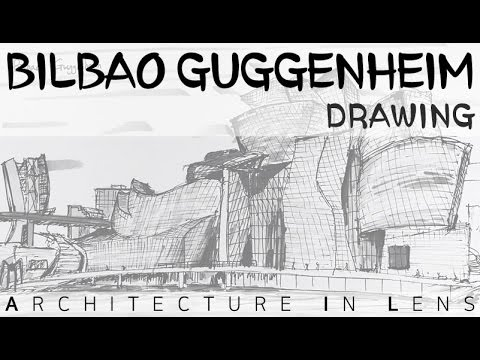 [Architecture Drawing] Guggenheim Museum in Bilbao