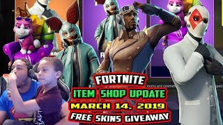 FORTNITE ITEM SHOP UPDATE MARCH 14, 2019 *NEW* EMPRESS, MAXIMILIAN, SCOUT, FLAPJACKIE, GROWLER FREE