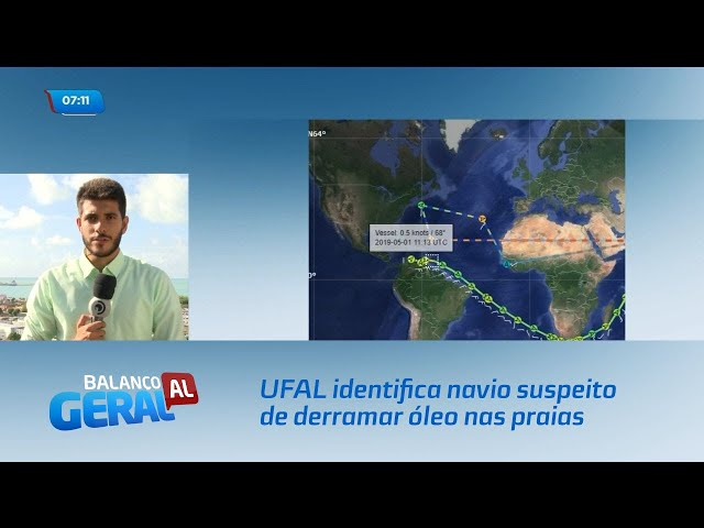 Pesquisadores da UFAL identificam navio suspeito de derramar óleo nas praias