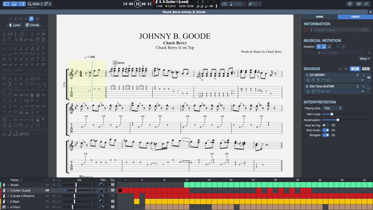 GuitarPro screenshot