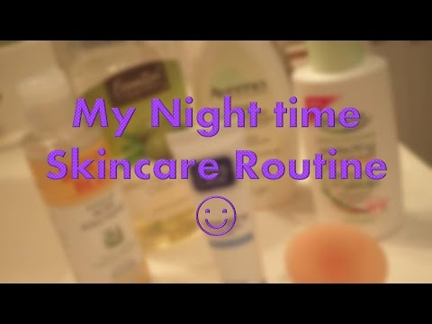 ☾My Night Time Skincare Routine!! ☽ - YouTube
