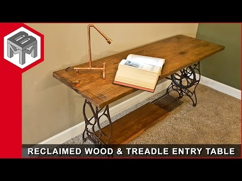 Reclaimed Barn Wood Entry Table - Metal & Woodworking How to