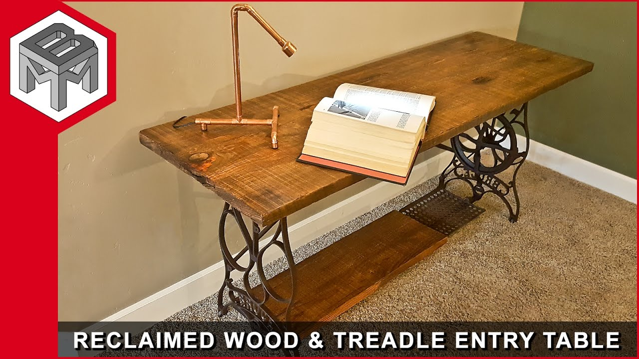 Reclaimed Barn Wood Entry Table   Metal U0026 Woodworking How To