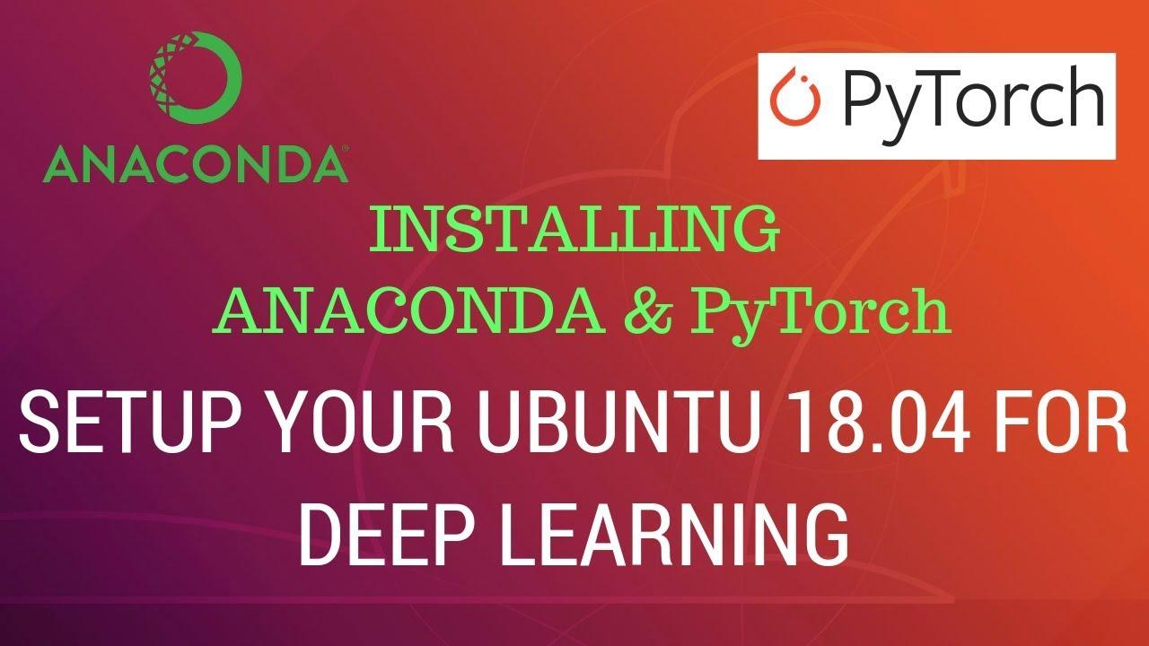 install pytorch anaconda gpu