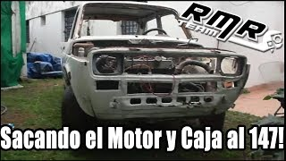Como sacar el motor a un auto | Fiat 147 Brio.