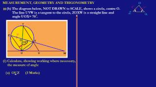 csec cxc maths past paper question 10b i a may 2012 exam solutions answers by will edutech