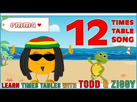 12 Times Table Song (Learning is Fun The Todd & Ziggy Way!)
