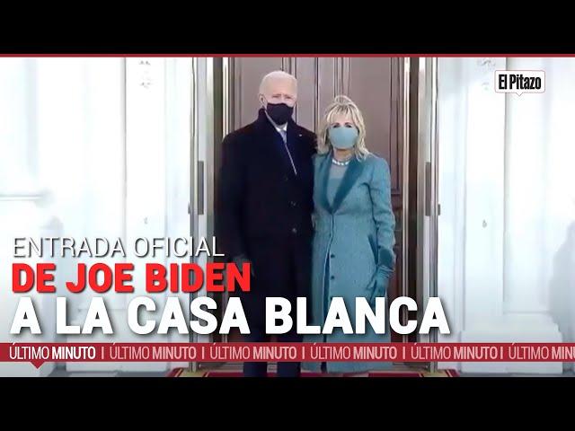 Así fue la entrada oficial de Joe Biden a la Casa Blanca