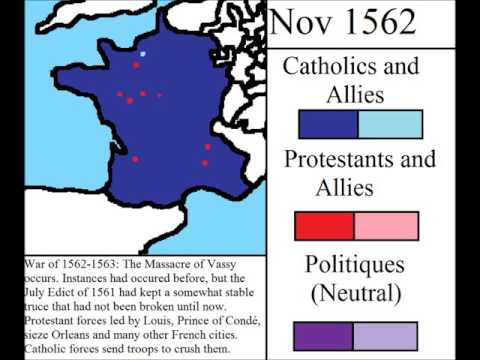 French Wars of religion (so far)