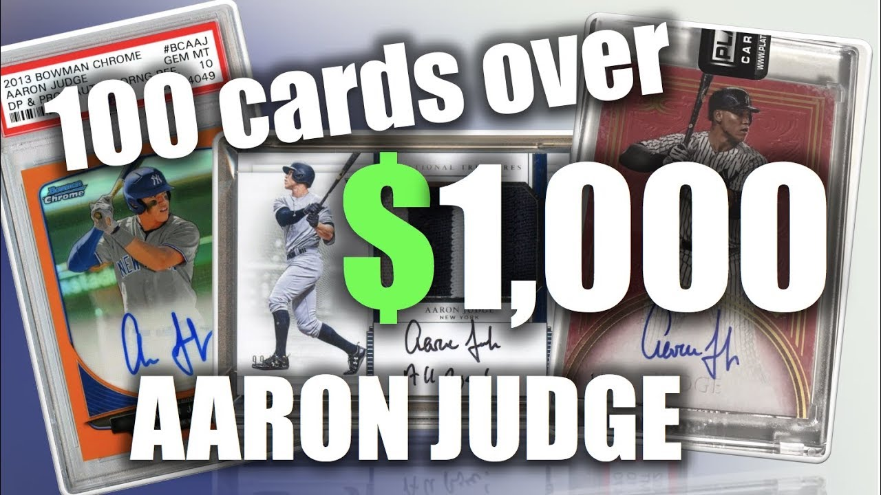 101 Aaron Judge Baseball Cards Sold For Over 1000