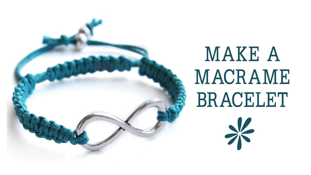 Make A Knotted Macrame Friendship Bracelet Jewelry Making Tutorial You