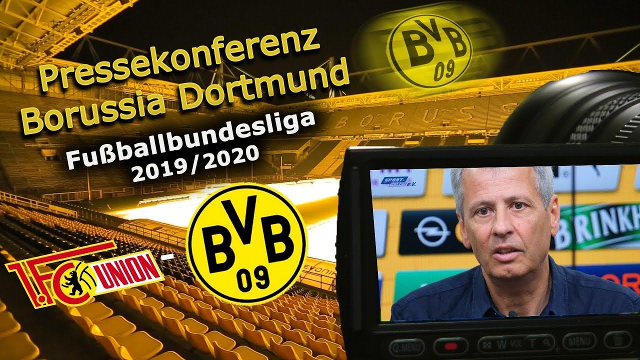 1. FC Union Berlin - Borussia Dortmund: Pk mit Lucien Favre und Michael Zorc