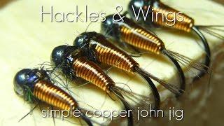 Fly Tying Simple Copper John Jig | Hackles & Wings