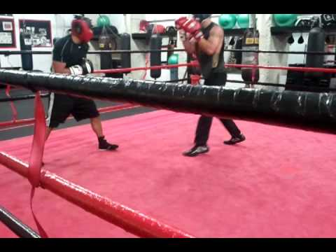 Chris and Tyler sparring, peter welch