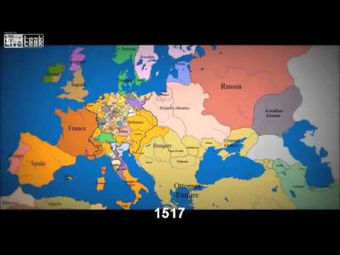 LiveLeak abkebab s Map of Europe 1000 AD to present with timeline ...